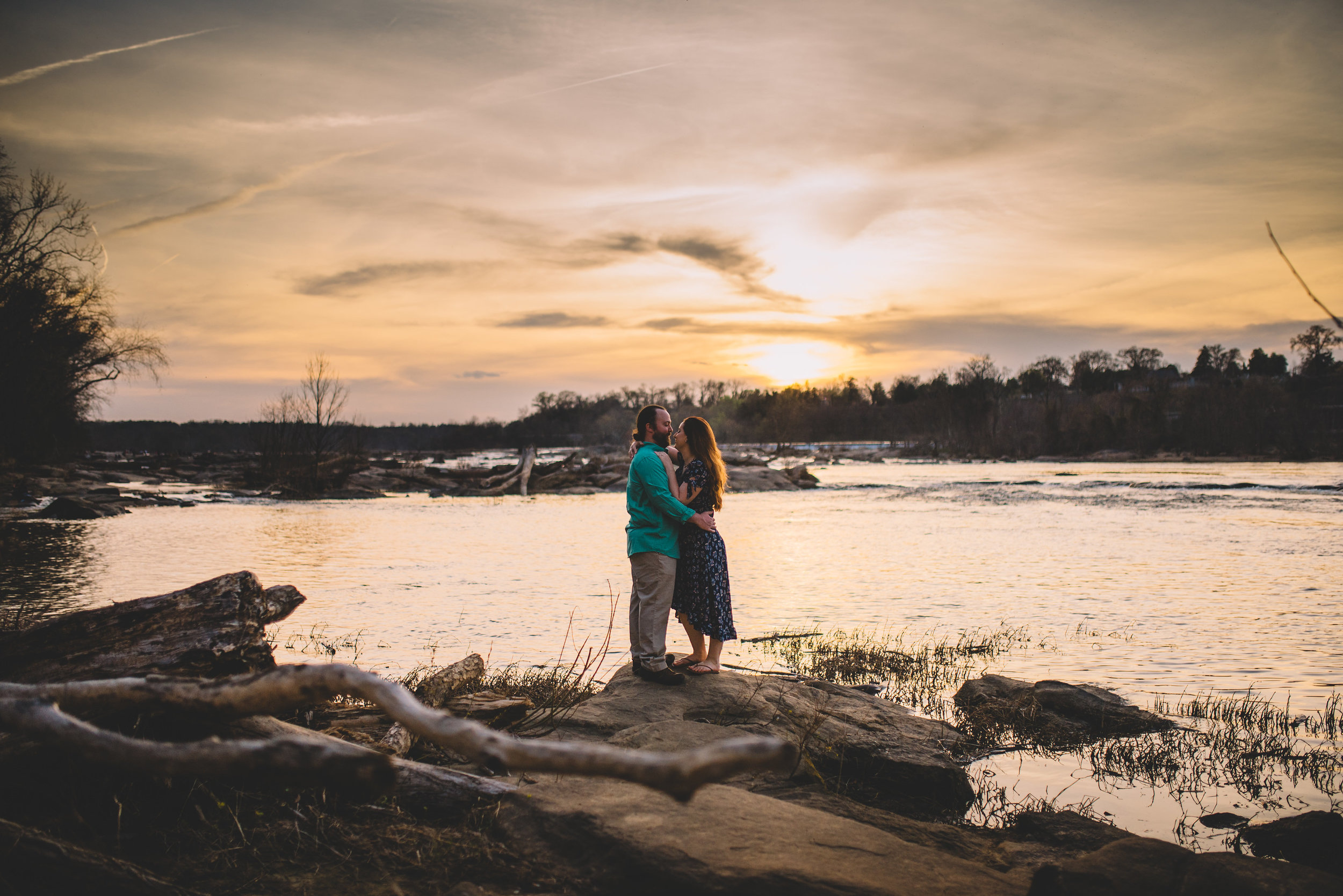 Sunset cuddles at Belle Isle, RVA.