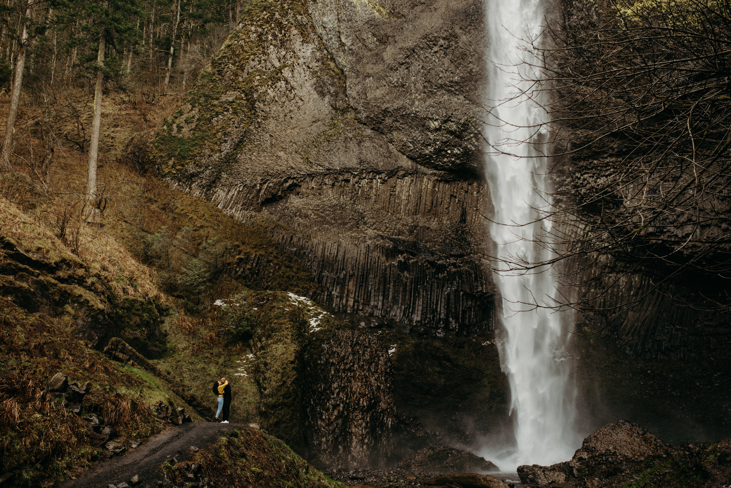 Couples Session at Latourell Falls // Columbia River Gorge