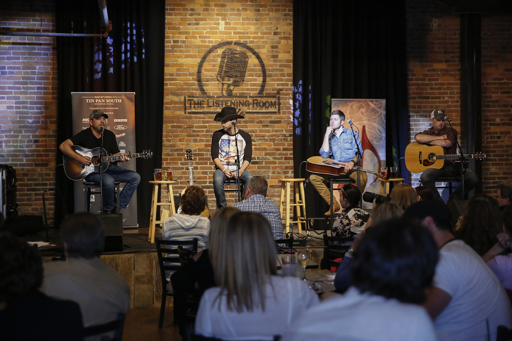 Dave Turnbull, Craig Campbell, Jacob Davis, and Jim Beavers performing at The Listening Room Cafe