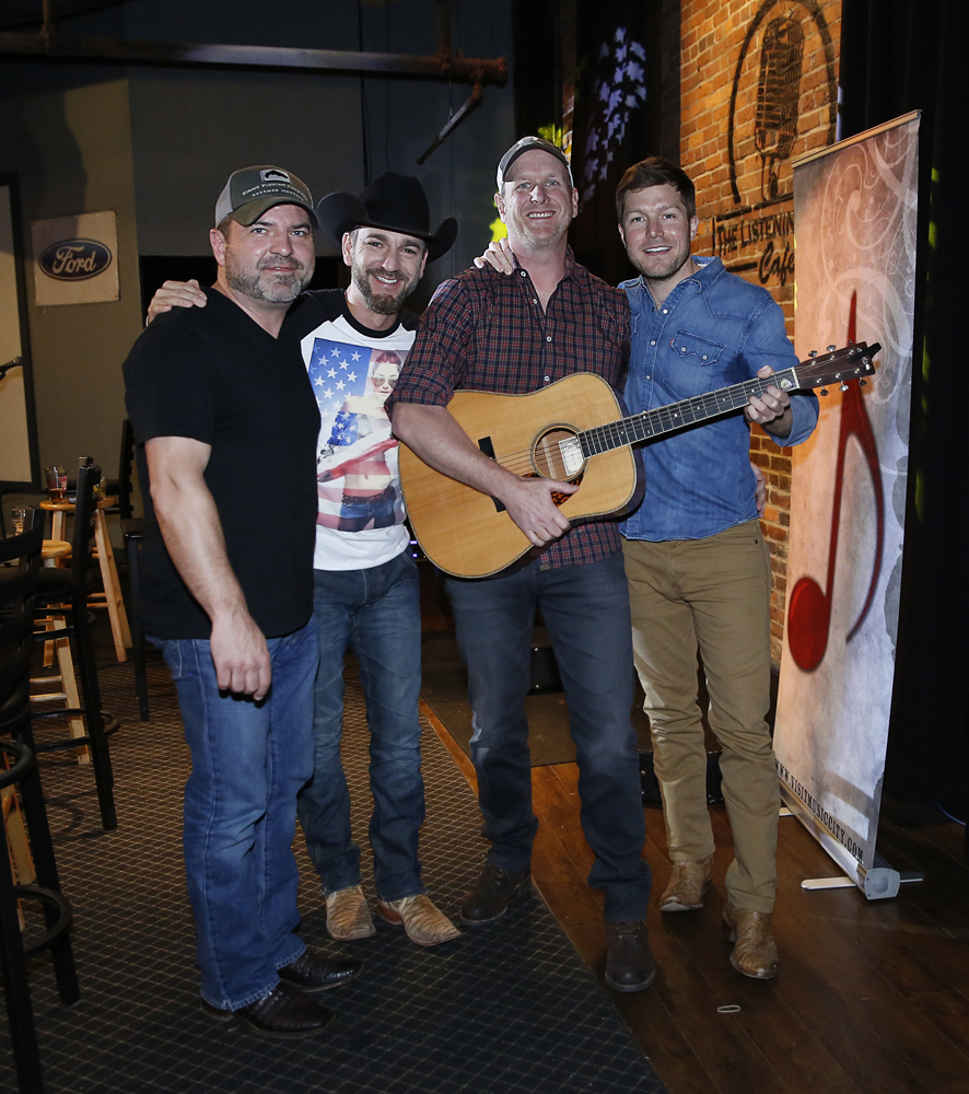 Dave Turnbull, Craig Campbell, Jacob Davis, and Jim Beavers at The Listening Room Cafe