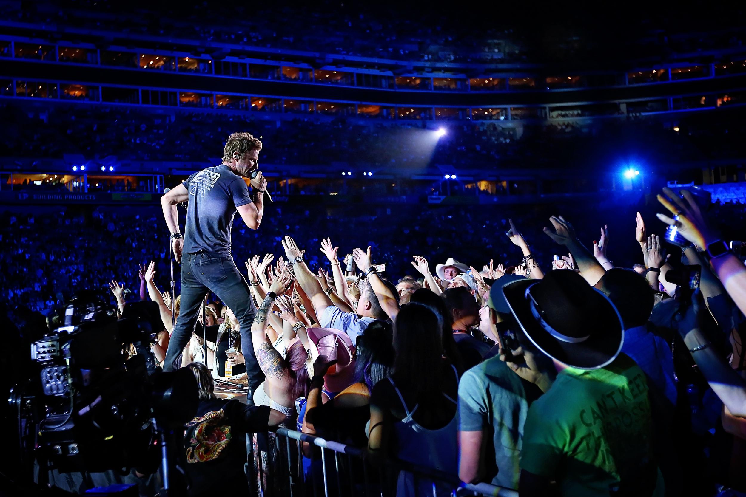 Dierks Bentley performs at Nissan Stadium during CMA Fest