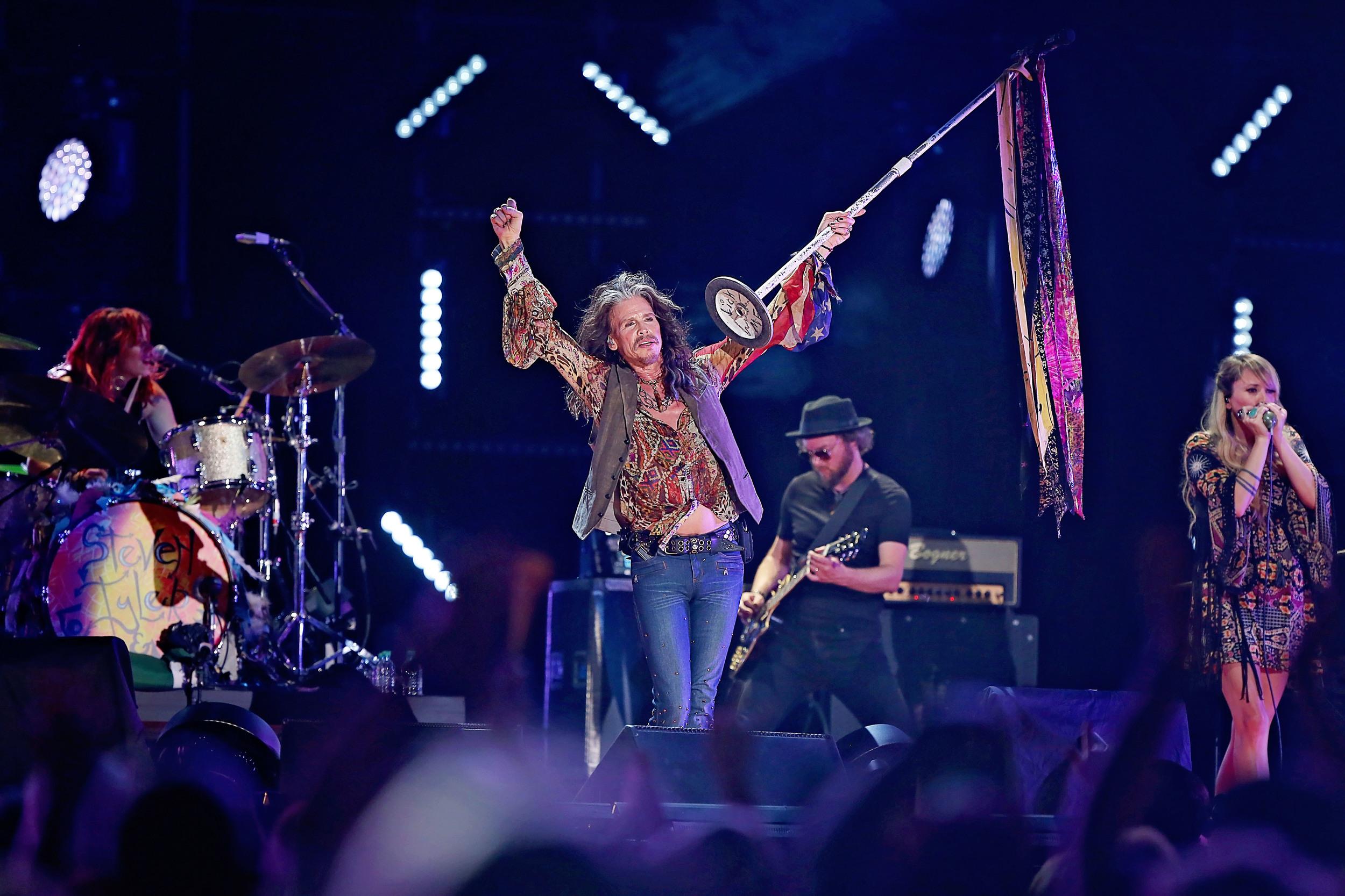 Steven Tyler performs at Nissan Stadium during CMA Fest
