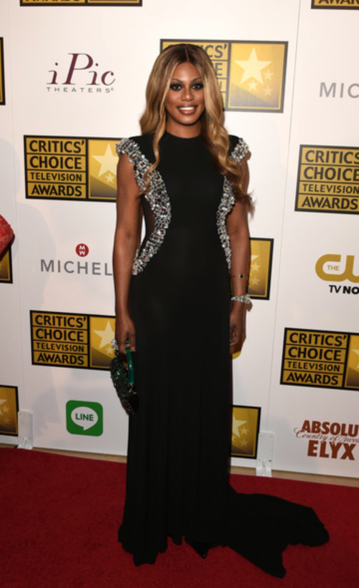 Laverne Cox at the 2014 Critics Choice Awards