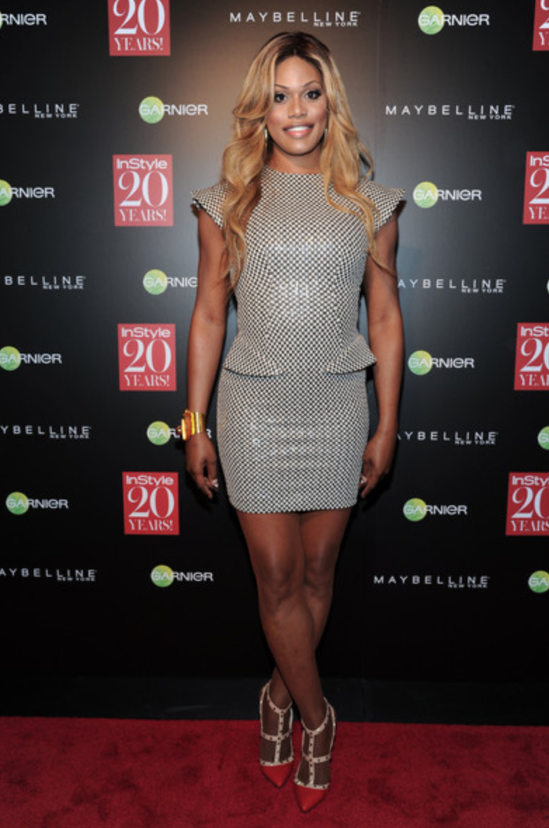 Laverne Cox at the InStyle Magazine 20th Anniversary Party