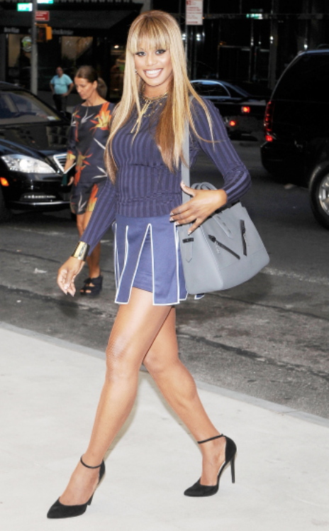 Laverne Cox at the 2014 Fashion Media Awards honoring Kenzo