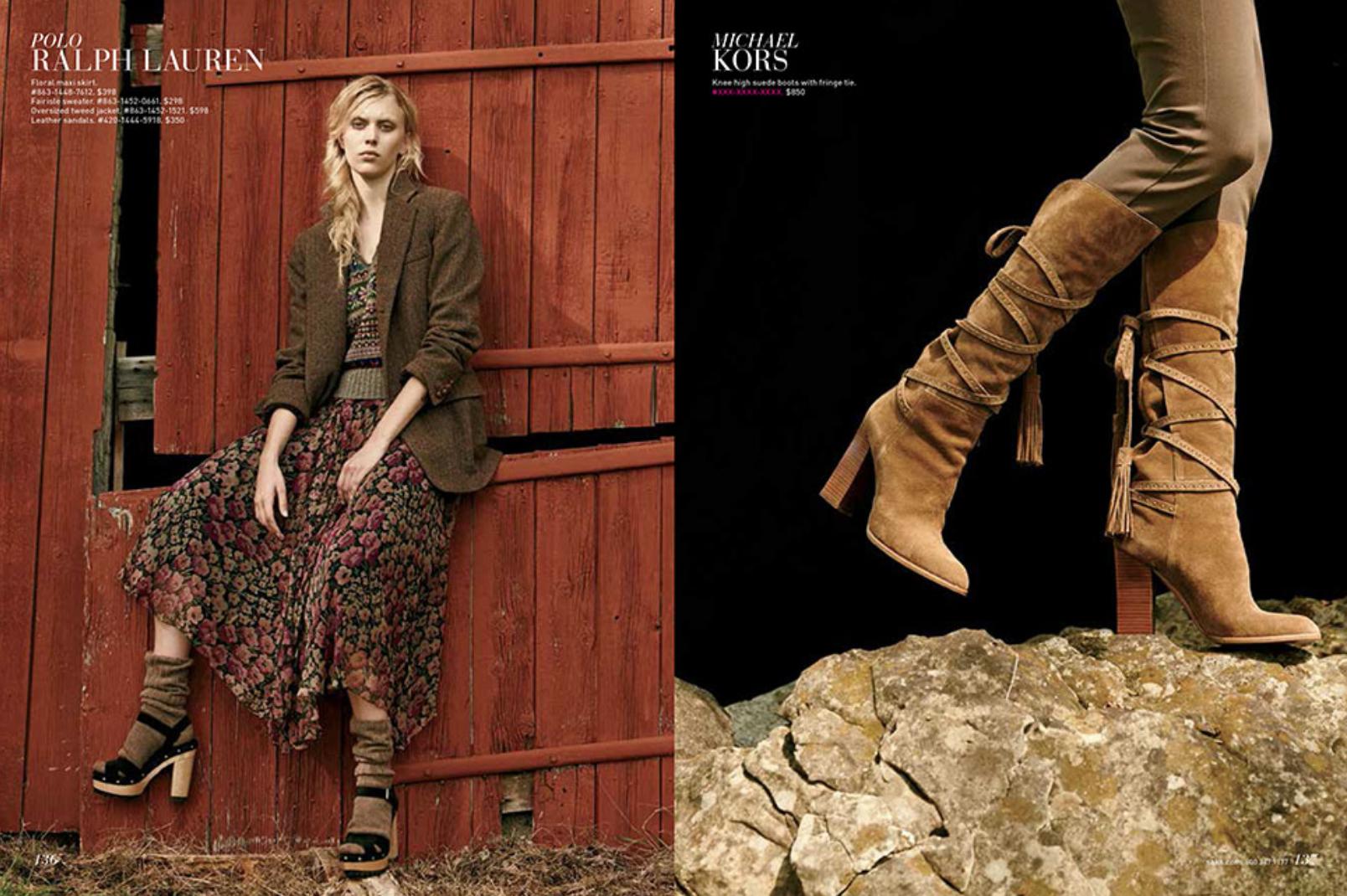 Saks Fifth Avenue September Fashion Book. Assistant Stylist toKatie Mossman.
