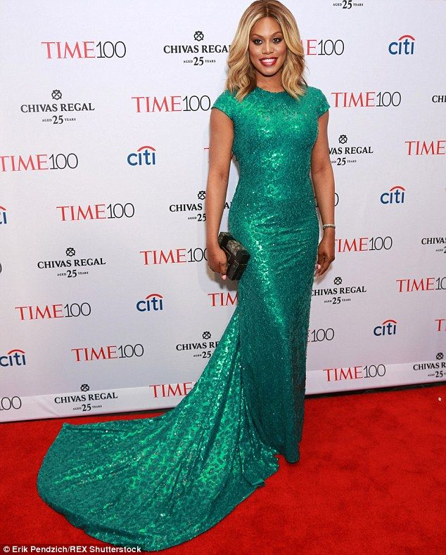 Laverne Cox, TIME 100 Gala wearing custom Marc Bouwer
