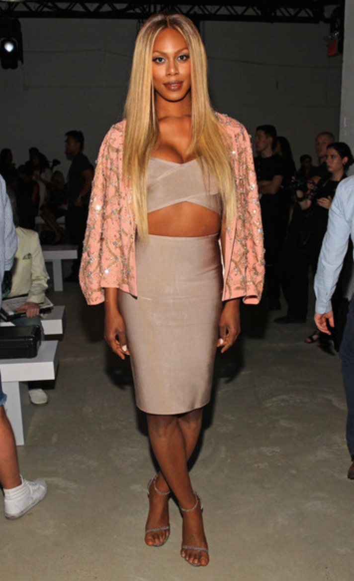 Laverne Cox at Idan Cohen SS16 NYFW Runway Show