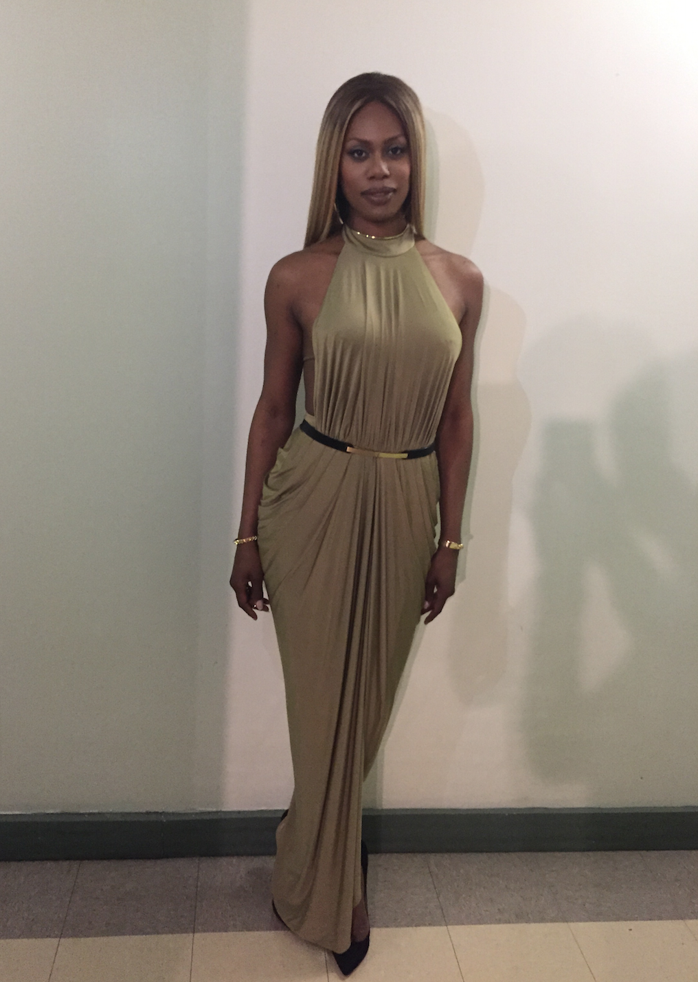 Laverne Cox, Givenchy NYFW Party 2015