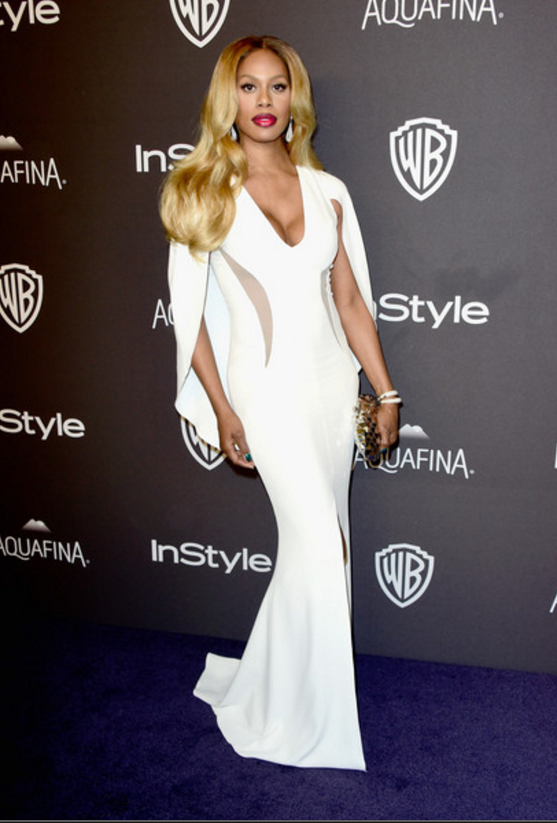Laverne Cox, 2016 Golden Globes Afterparty