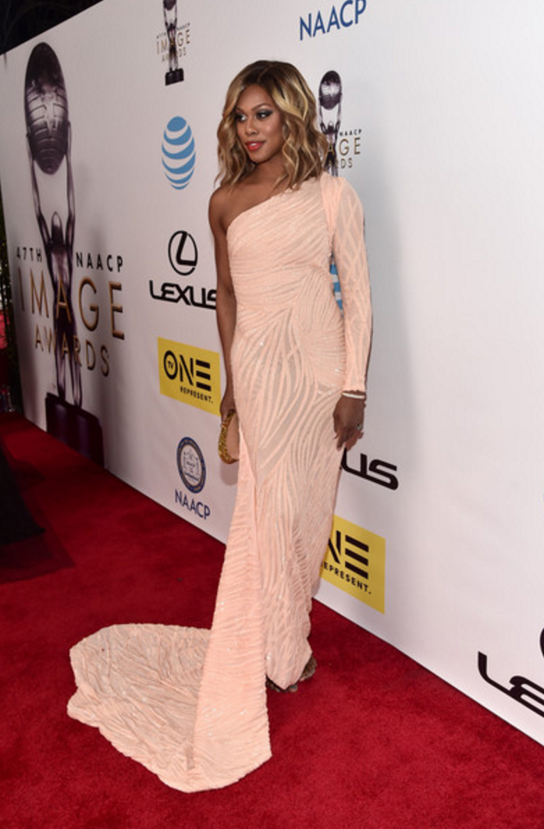 Laverne Cox at the NAACP Image Awards 2016