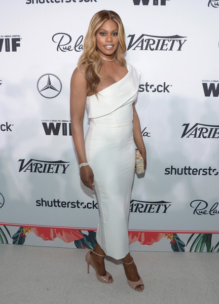 Laverne Cox at the Variety Women in Hollywood Emmys 2016 event