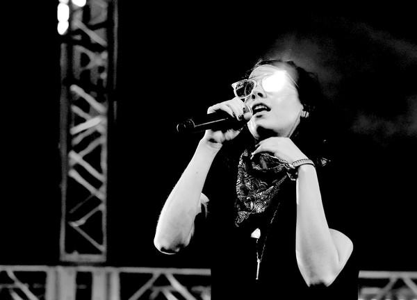 K. Flay performing at Coachella