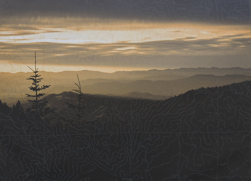 And Mountains Peak, 2016, archival inkjet, etching, 18 x 24 in