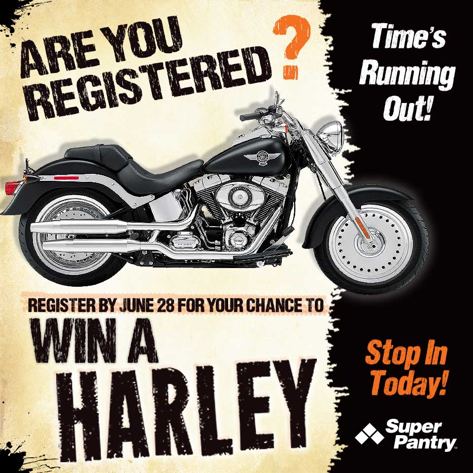 Harley Promotion graphic for in store posters & social media