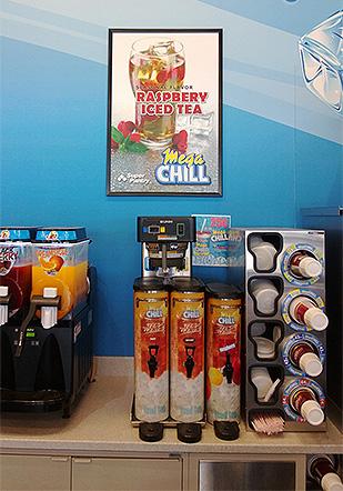 Poster graphic for seasonal iced tea