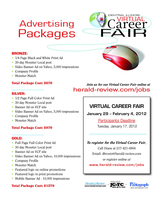Central Illinois Virtual Career Fair flyer (back)