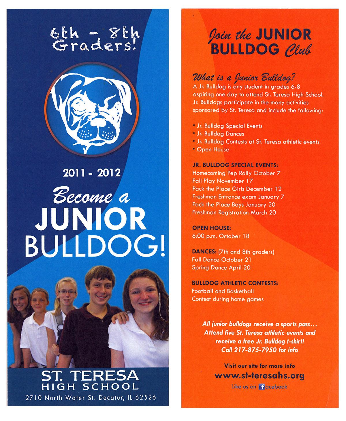 Junior Bulldog Brochure front and back