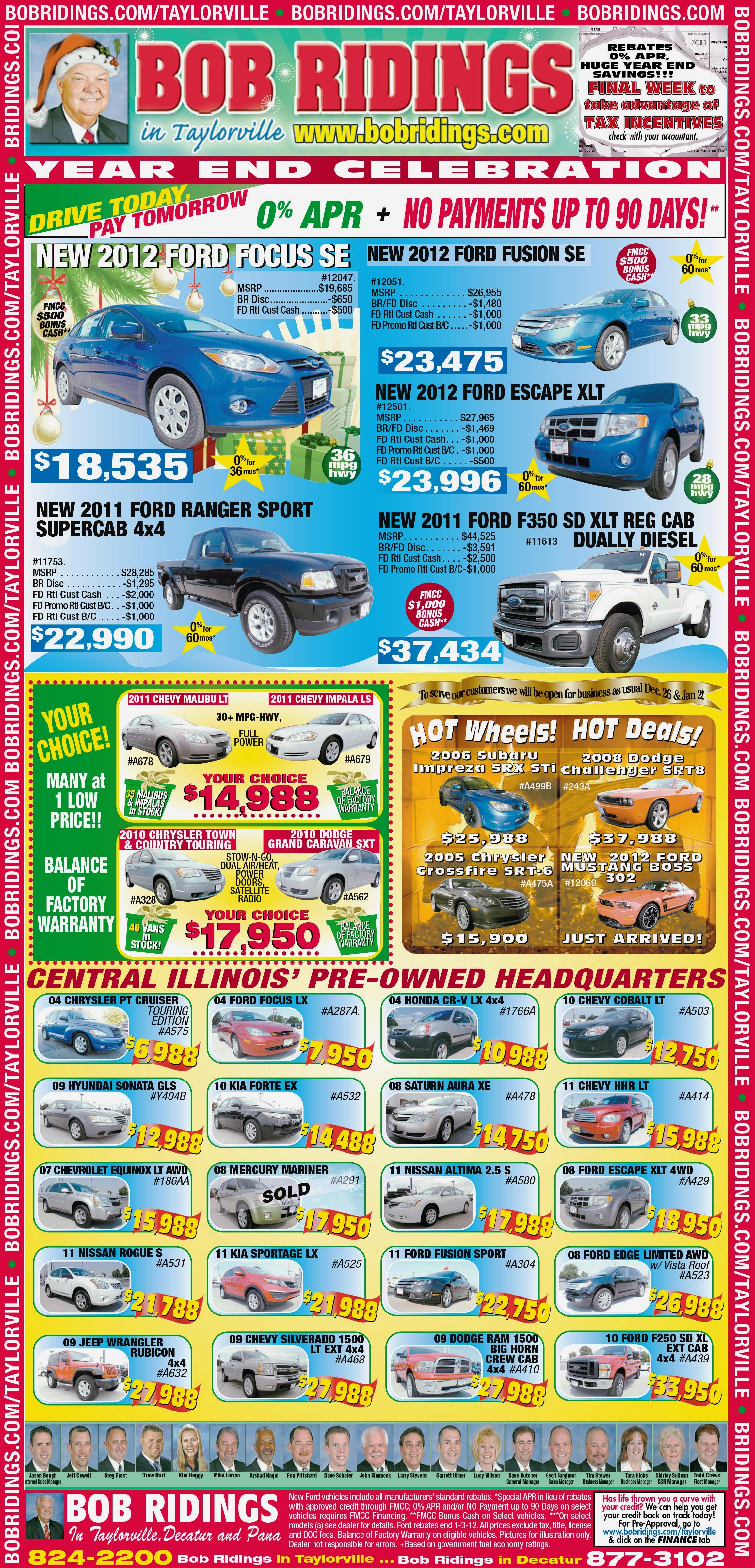 Bob Ridings Full Page Newspaper Ad