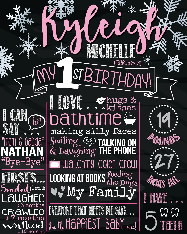 Kyleigh's 1st Birthday Poster