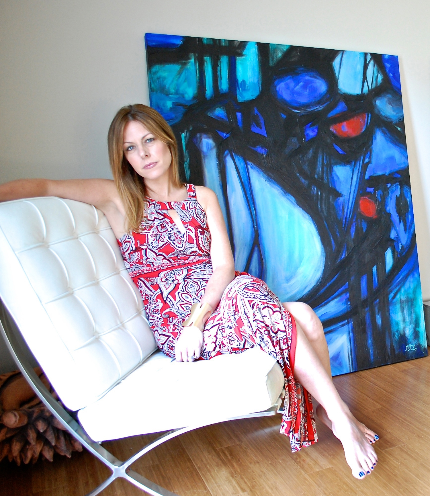 Jennifer with her  Labyrinth  painting