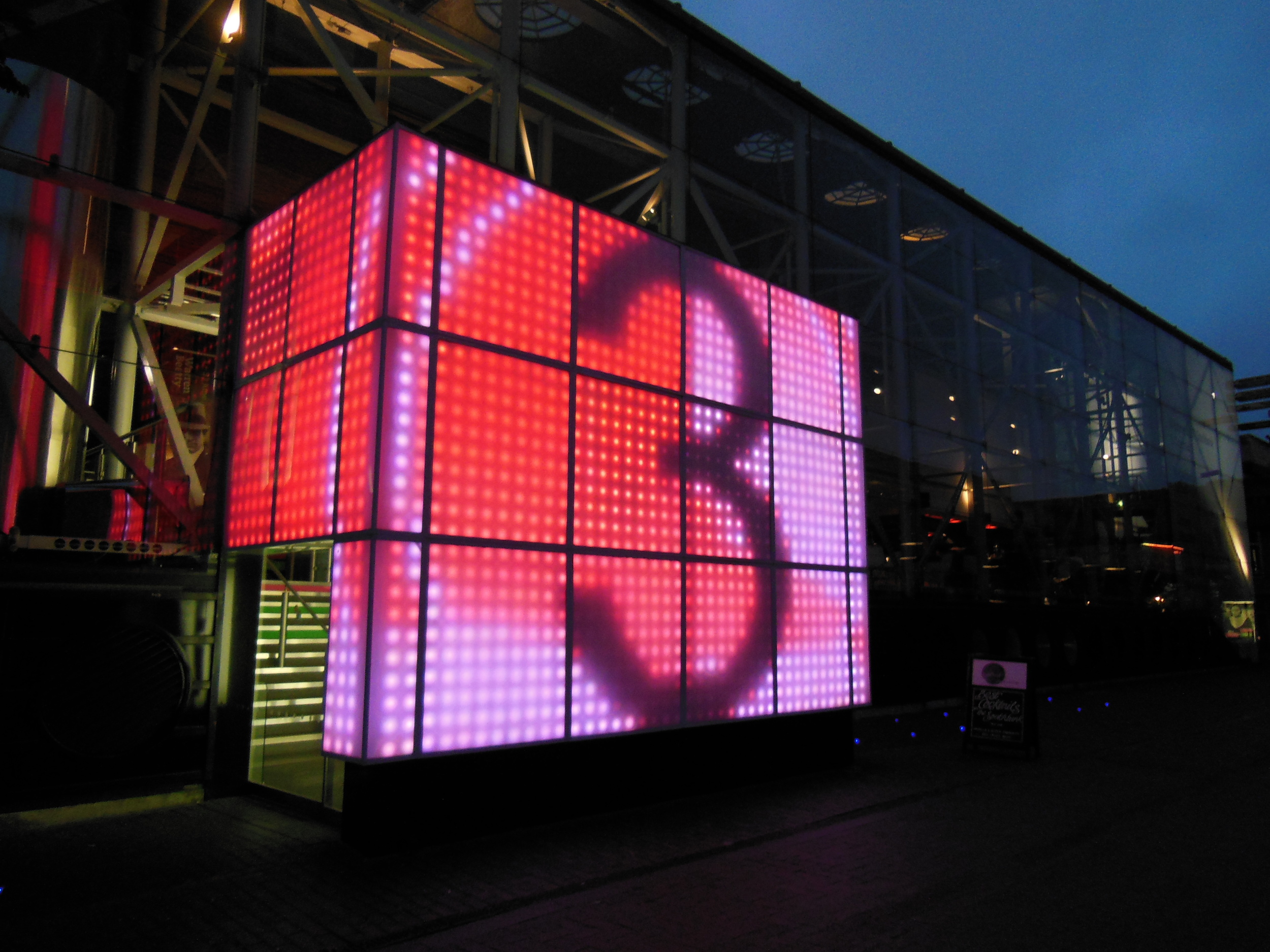 The countdown clock art outside the National Theatre... I definitely had great timing that day!