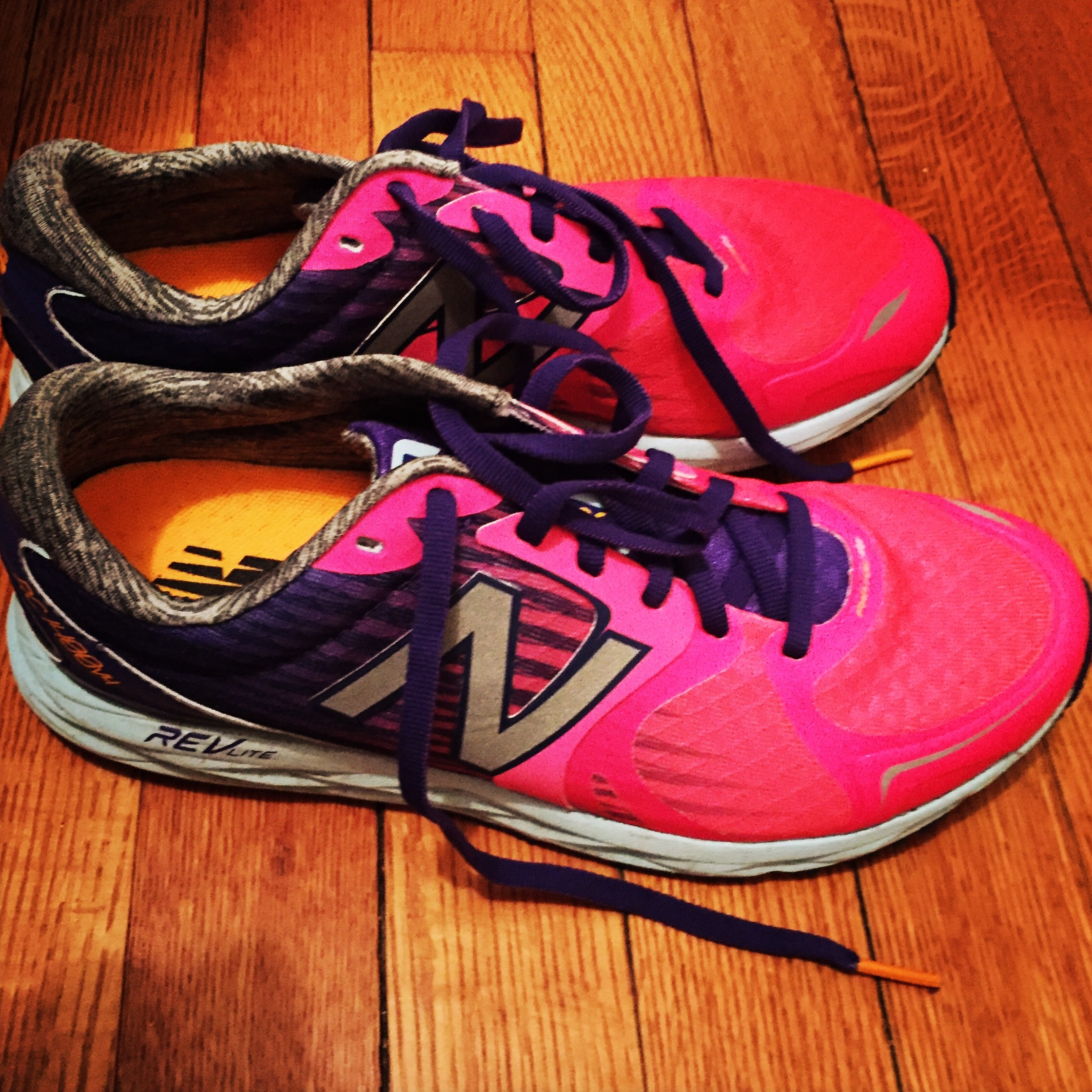 My smarter, wiser self knew to go with more supportive NB flats for this go-around....not my 5k flats, because...duh!