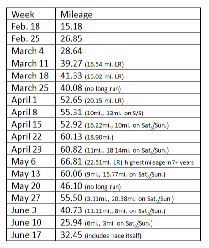 This training cycle included far more long runs than I've done in the past as I've felt that was the one weak spot in my marathon-specific training.