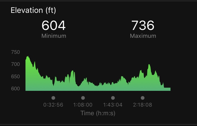 Can we just stop and look at that elevation drop? That is actually not a fun thing, in my opinion. Also, let's look at the back end of this with the uphills!