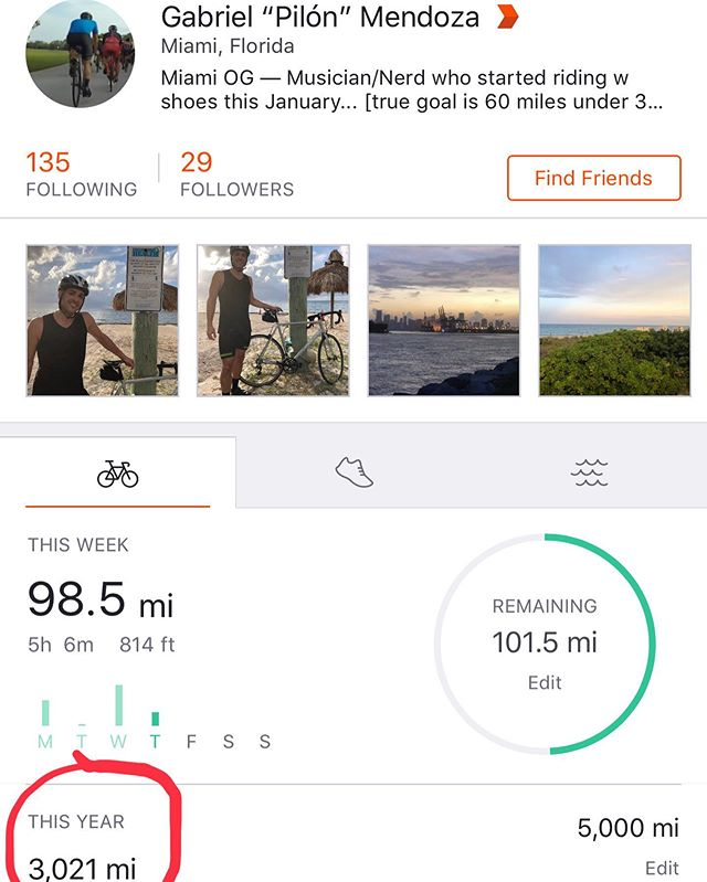 3,000th mile of the year today. 😎 I'm just getting started. Looking to finish the year with 5k+ — not bad for my first year. Checkout the link in bio
