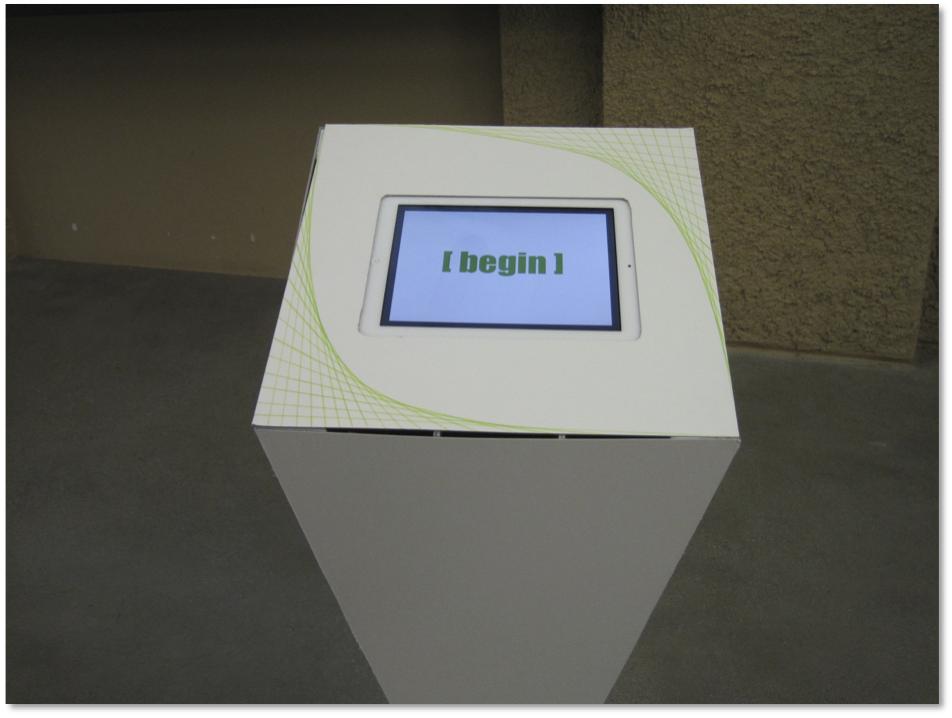 UI design with mat board prototype