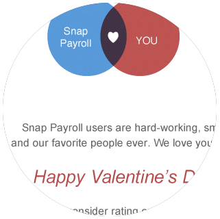 Snap Payroll - Valentine's Day Email