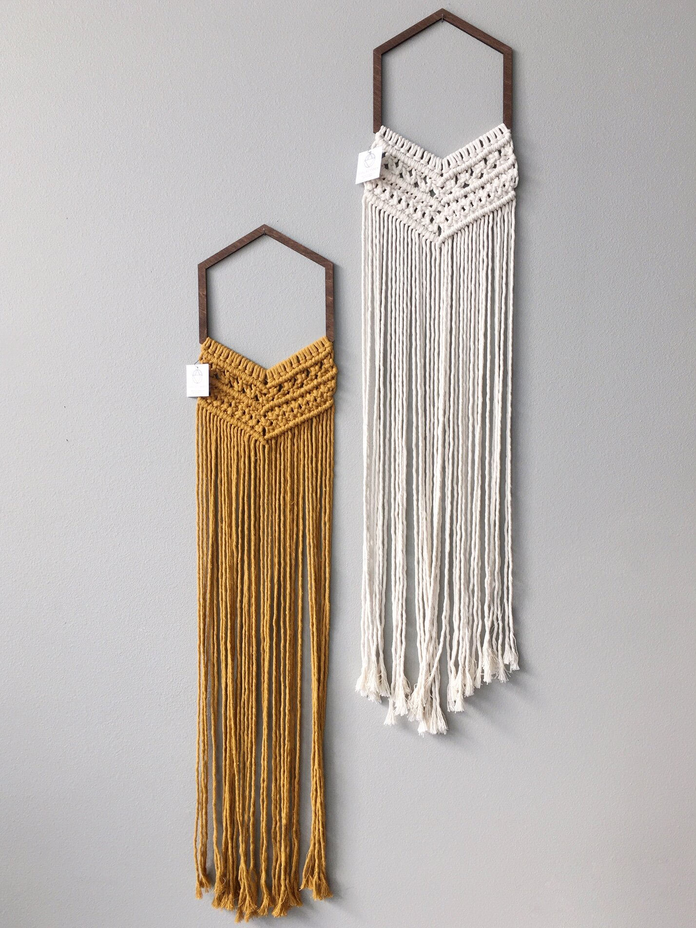 Hex Macrame Wall Hanging By Collectanea Rerunroom