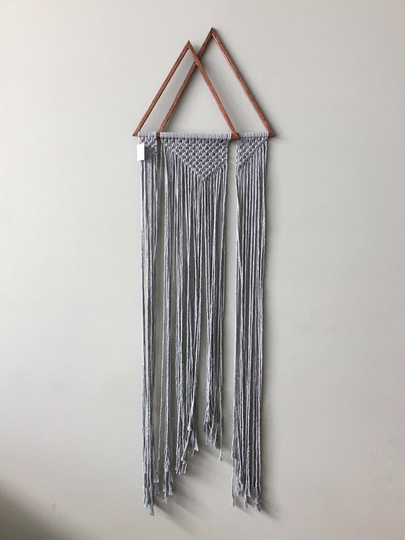 Double Triangle Mountain Macrame Wall Hanging By Collectanea