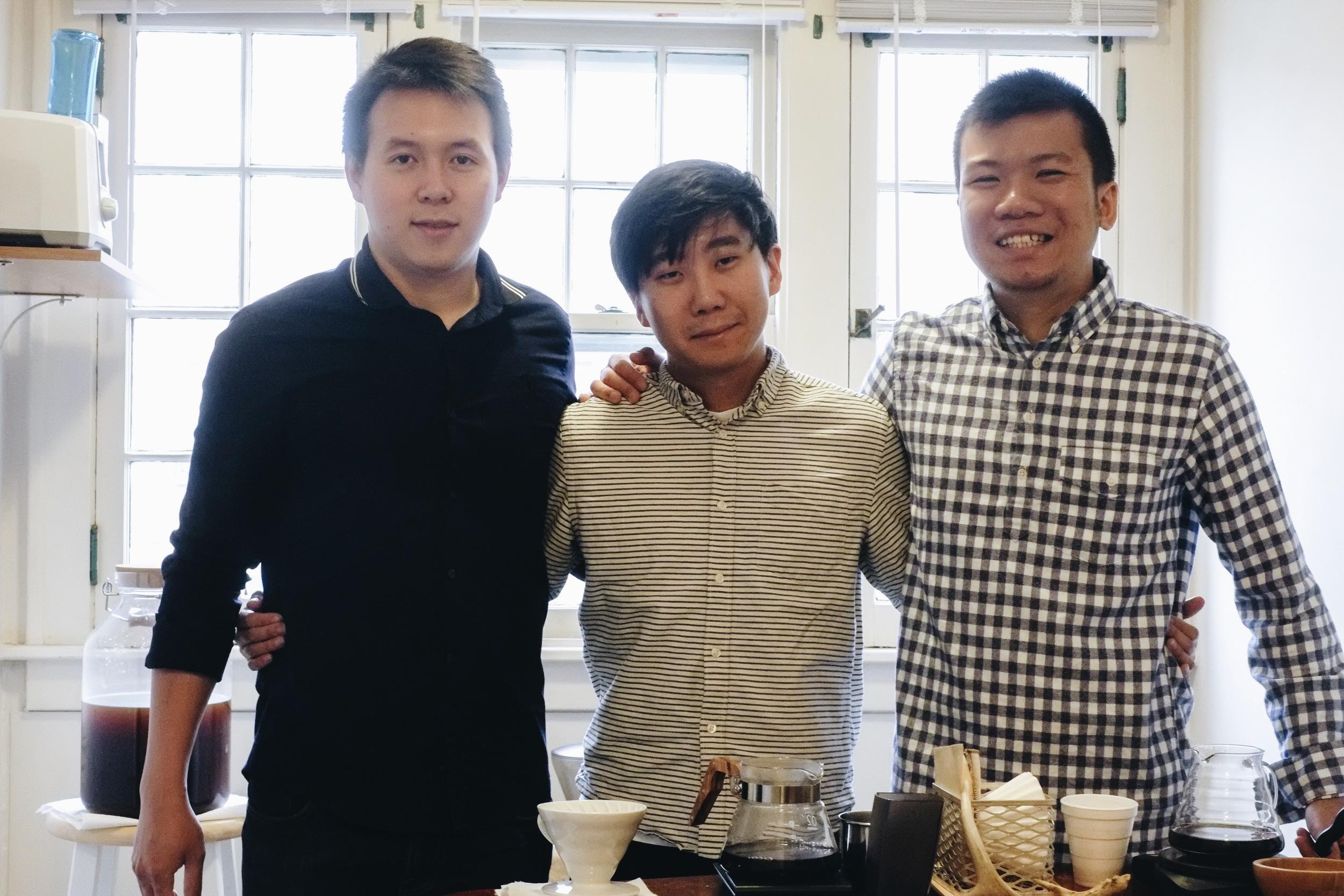 Left to right: Niko, Sam, Sean