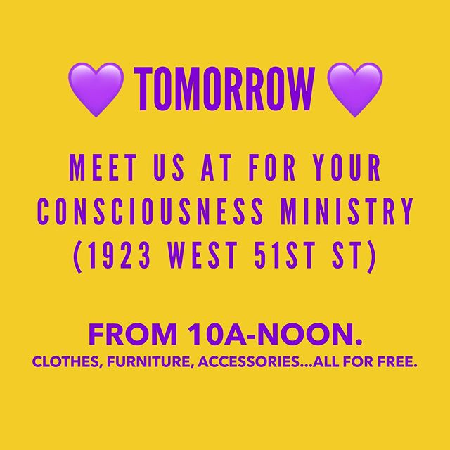 💜💛 Because, Love Pop-up Shop 💛💜 If you or anyone you know is in need of baby items, join us tomorrow at the For Your Consciousness Ministry from 10a-Noon! All items available for free.