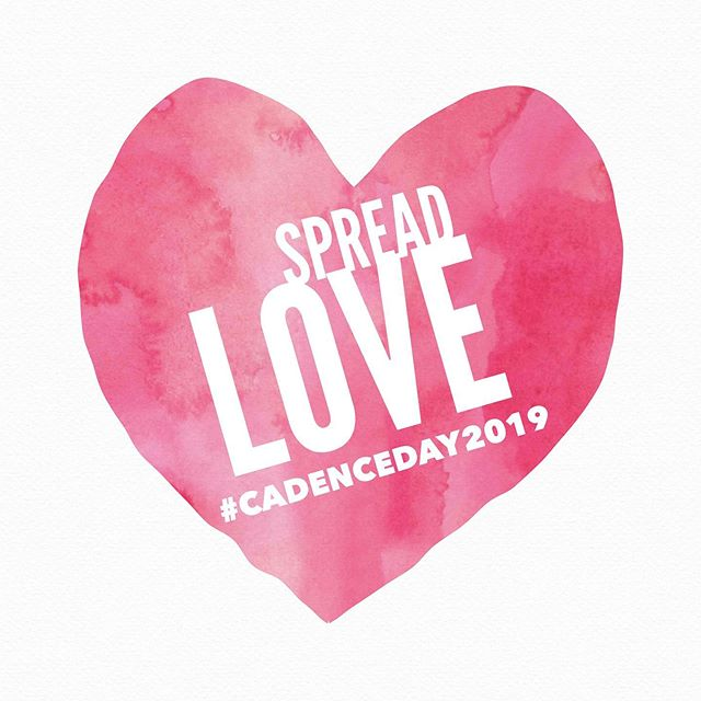 It's the time of year again where we are very deliberate about spreading love and being compassionate - it's Cadence Day!  The day we ask our already generous friends to continue their generosity in Cadence's name. To take that extra step to be a blessing to someone.  No act of kindness is too small and there are so many ways to spread love to others. You could check in with an older relative or someone that lives alone, send a note to a school teacher to thank them in advance at the start of the school year, buy supplies for a kid who needs them. You could leave an extra tip for your waiter at lunch or buy coffee for the person behind you in line. The possibilities are endless and the love is contagious.  #SpreadLove #CadenceDay2019 #TPC