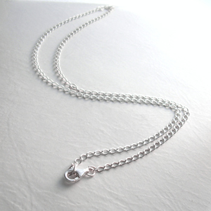 70e38c246ce sterling chain 2-2.jpg. Sterling Silver Curb Chain Necklace ...