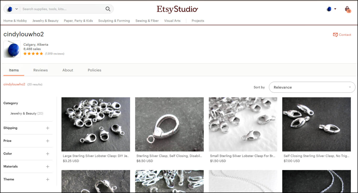 Your Etsy Studio Shop Home Page - banner free, and sorted by relevance.