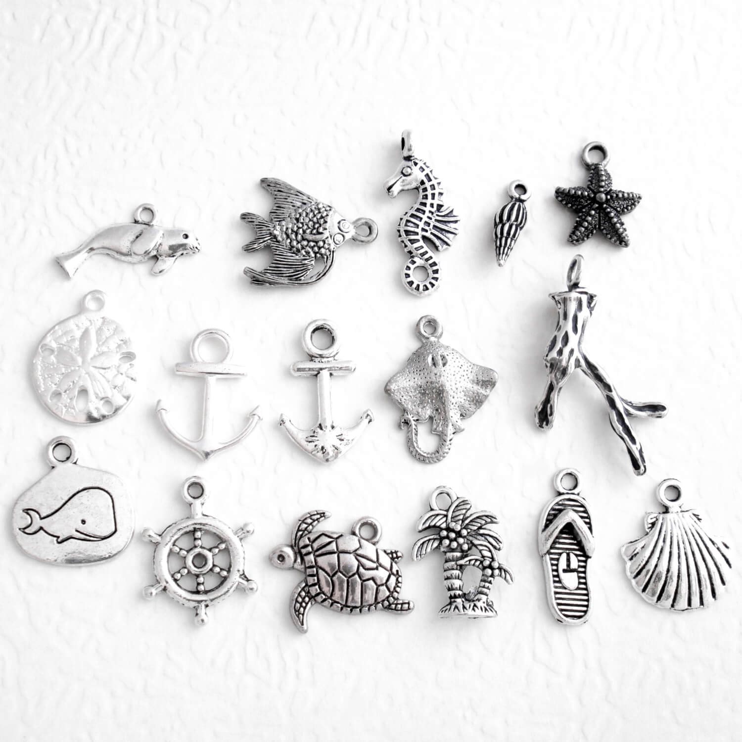 Ocean Charm Add-Ons for Necklaces, Keychains