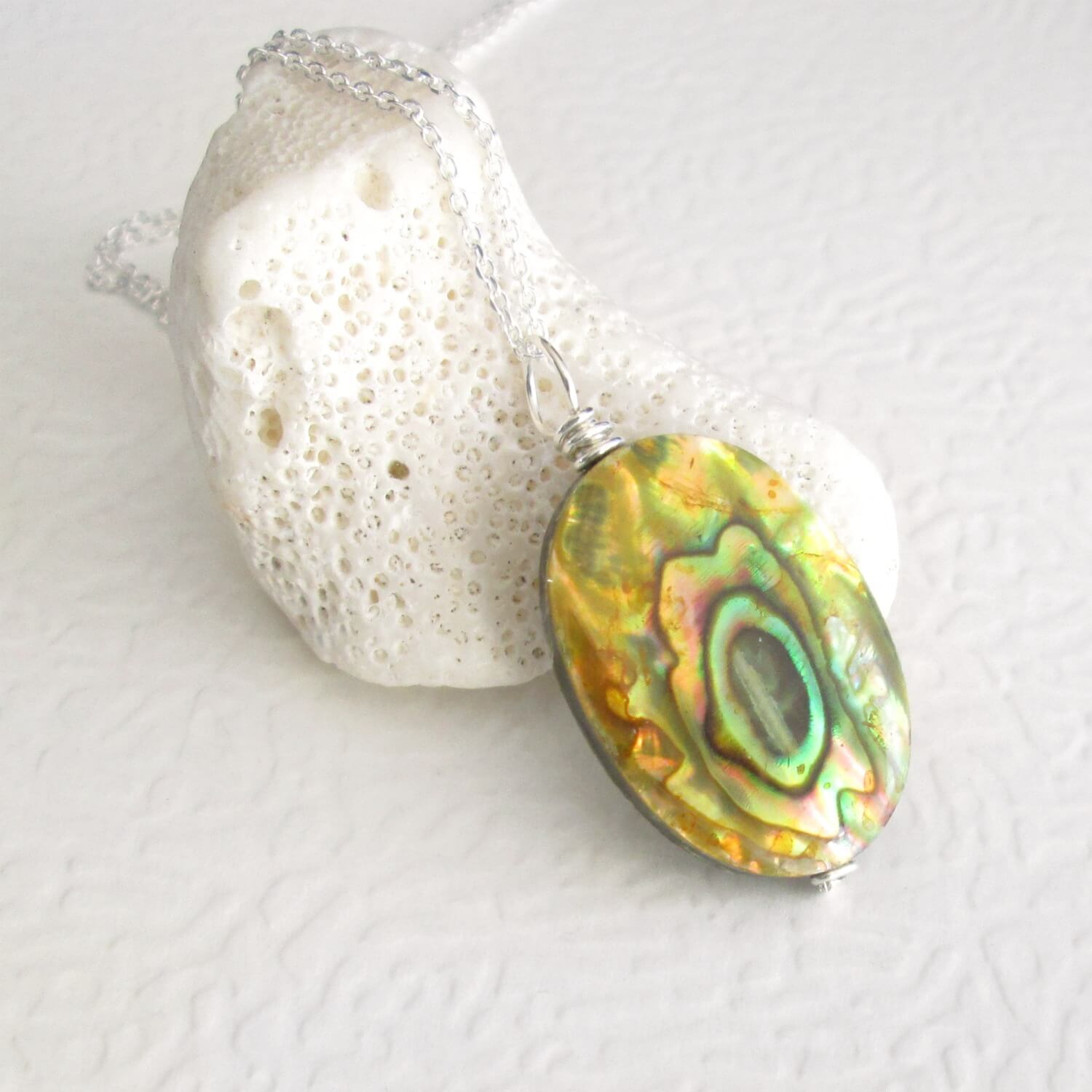 Yellow Abalone Pendant
