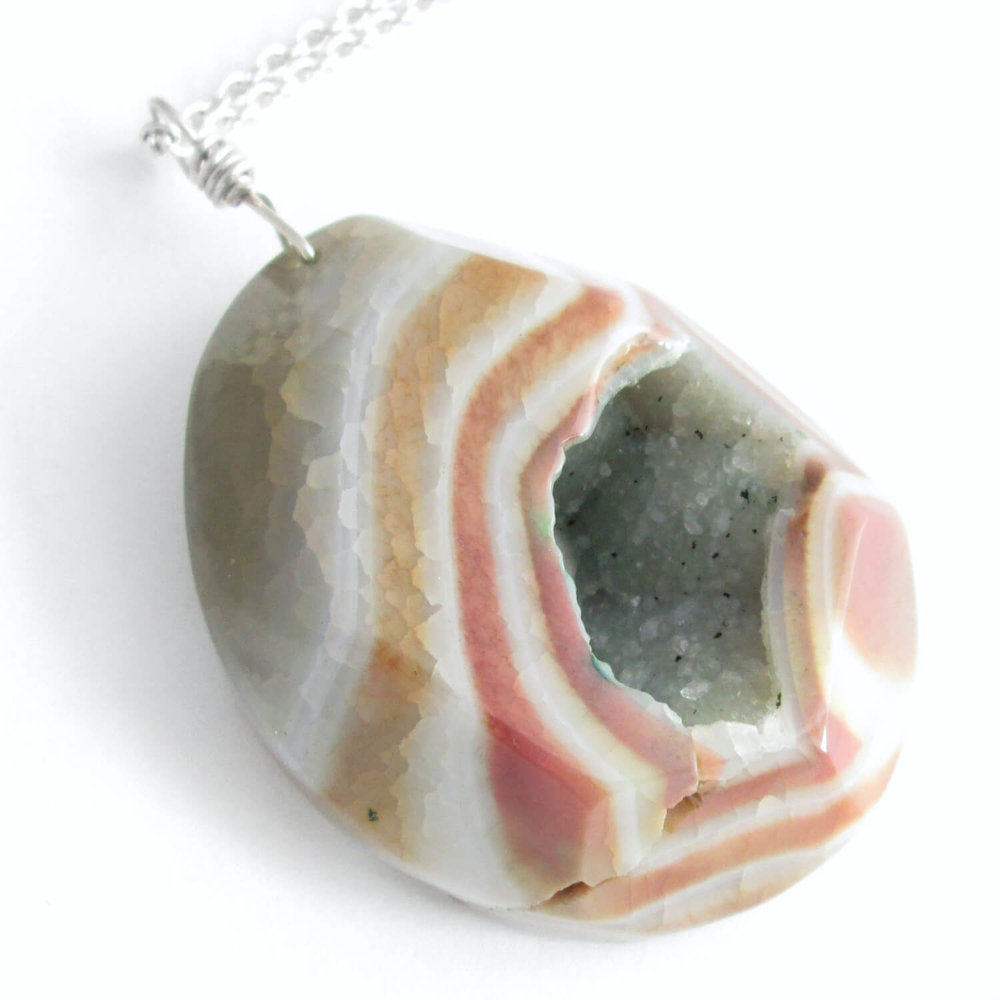 Choose Your Pendant Extra Large Druzy Necklace Choose Your Agate Necklace Geode Necklace Agate Necklace Large Agate Pendant