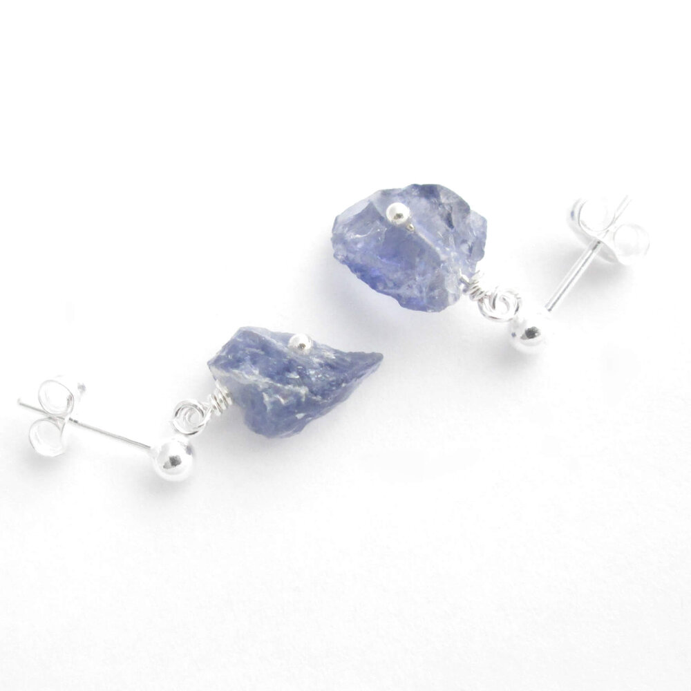 iolite cordierite necklace and Sterling Silver 925