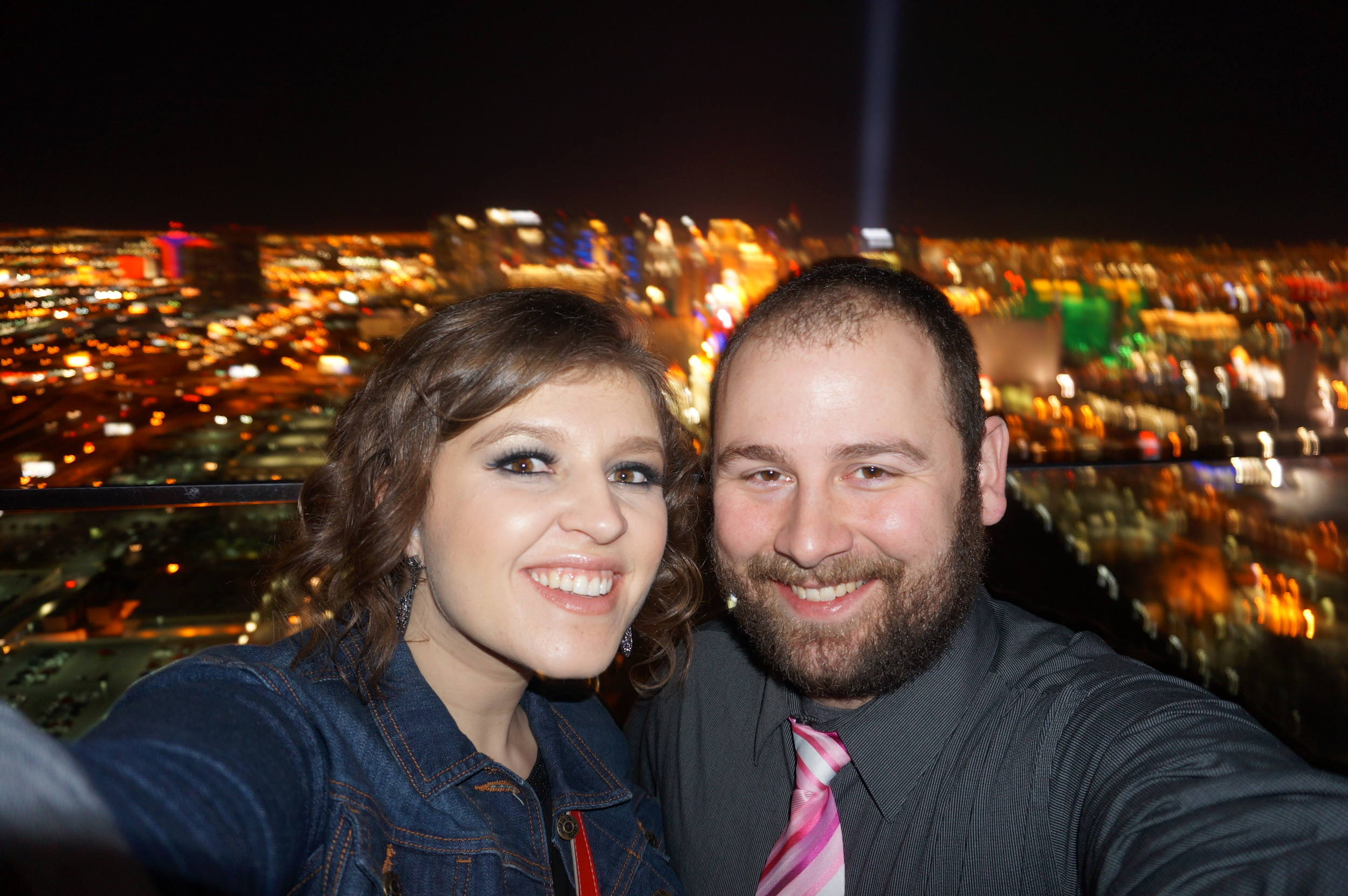 A selfie with a view: an amazing rooftop bar in Vegas with my Love.