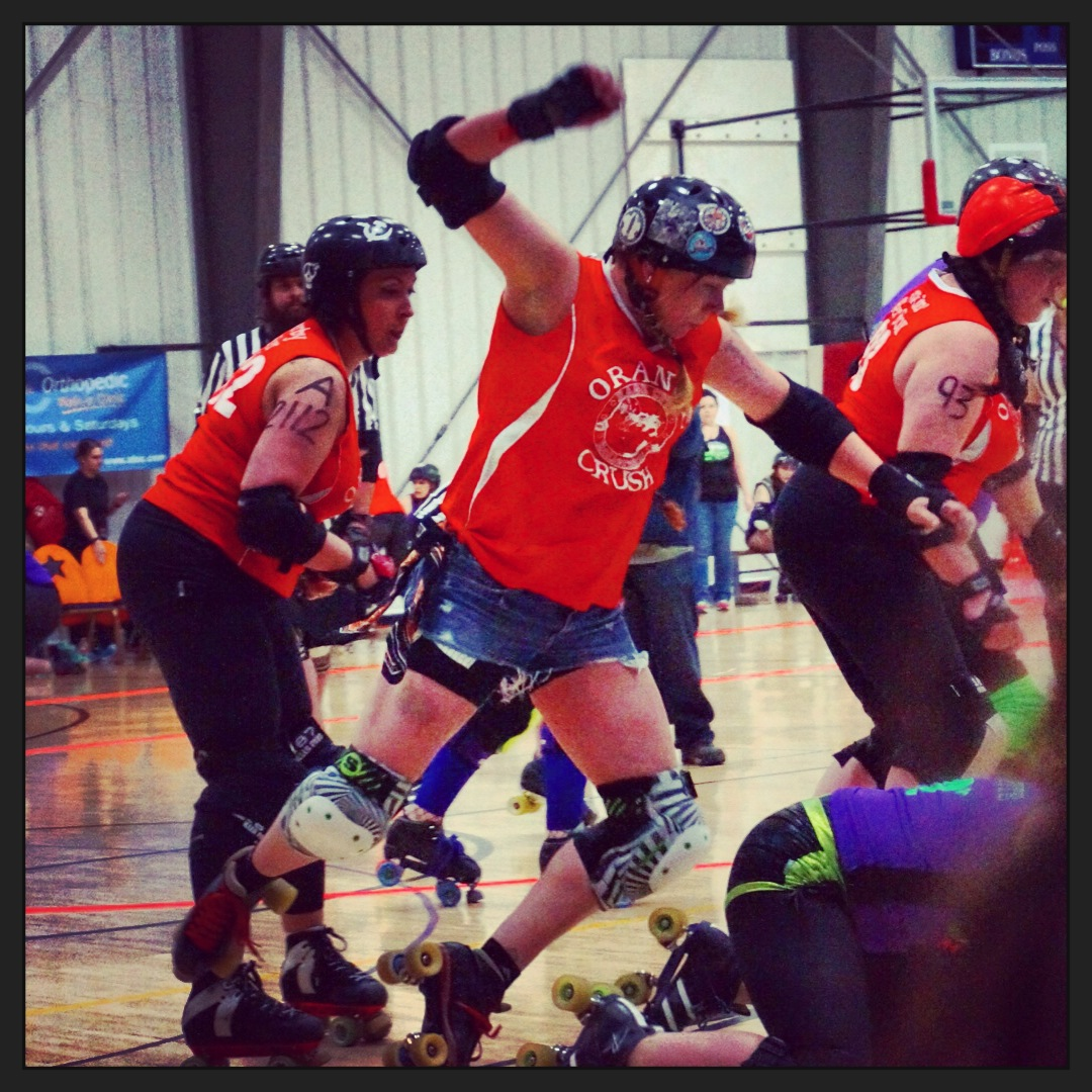 Roller Derby chicks are hard-core!