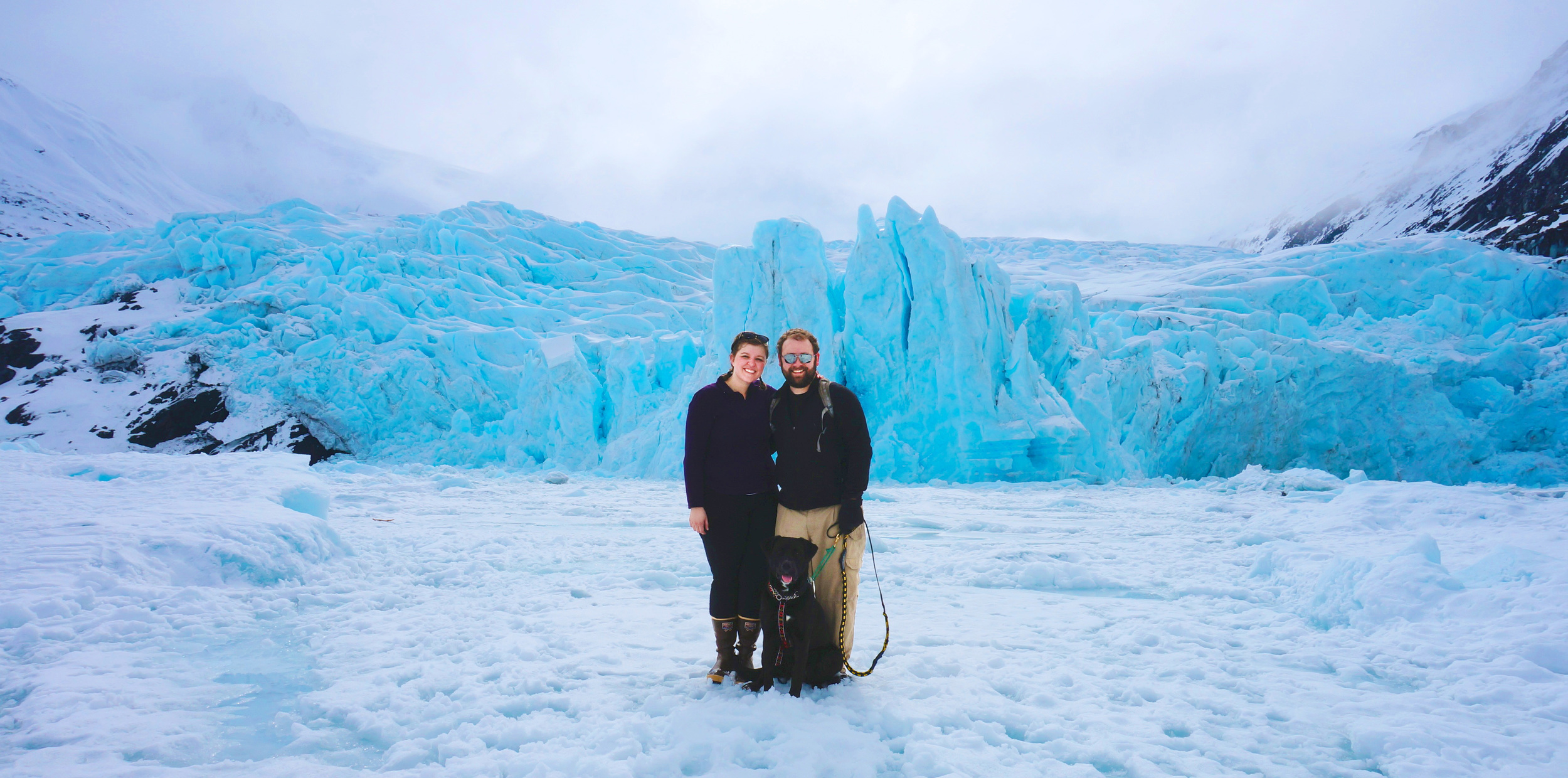 This will always be a favorite photo of Tony & me. We hiked to Portage Glacier and were rewarded with this epic shot from Mother Nature.