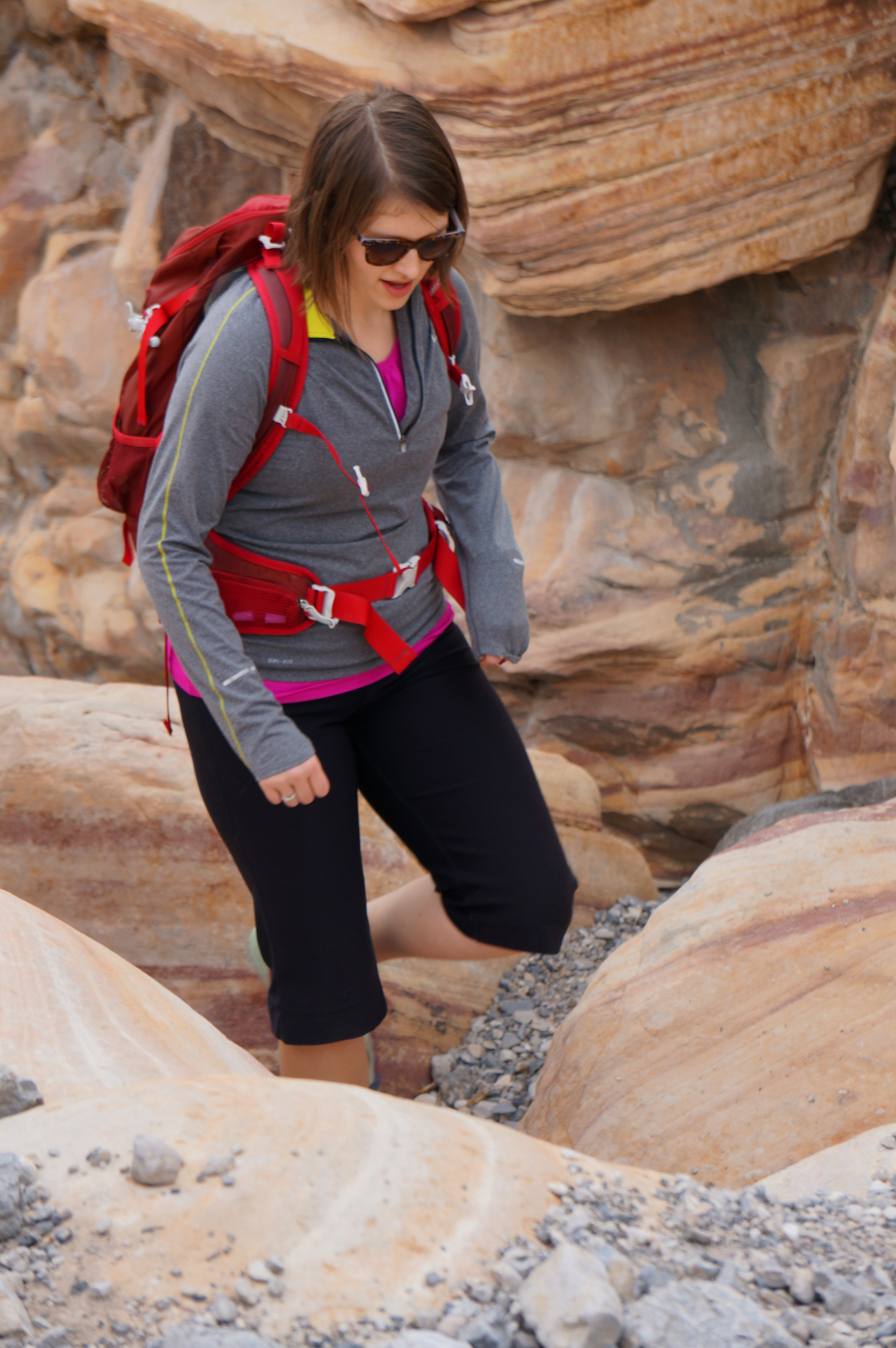Laura hiking in Red Rock Canyon. (I think she looks like an REI model here!)