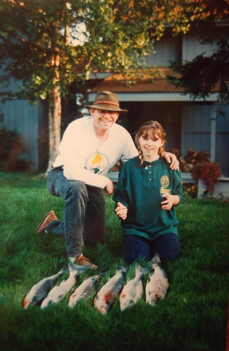 My sister and my dad, circa 1997.