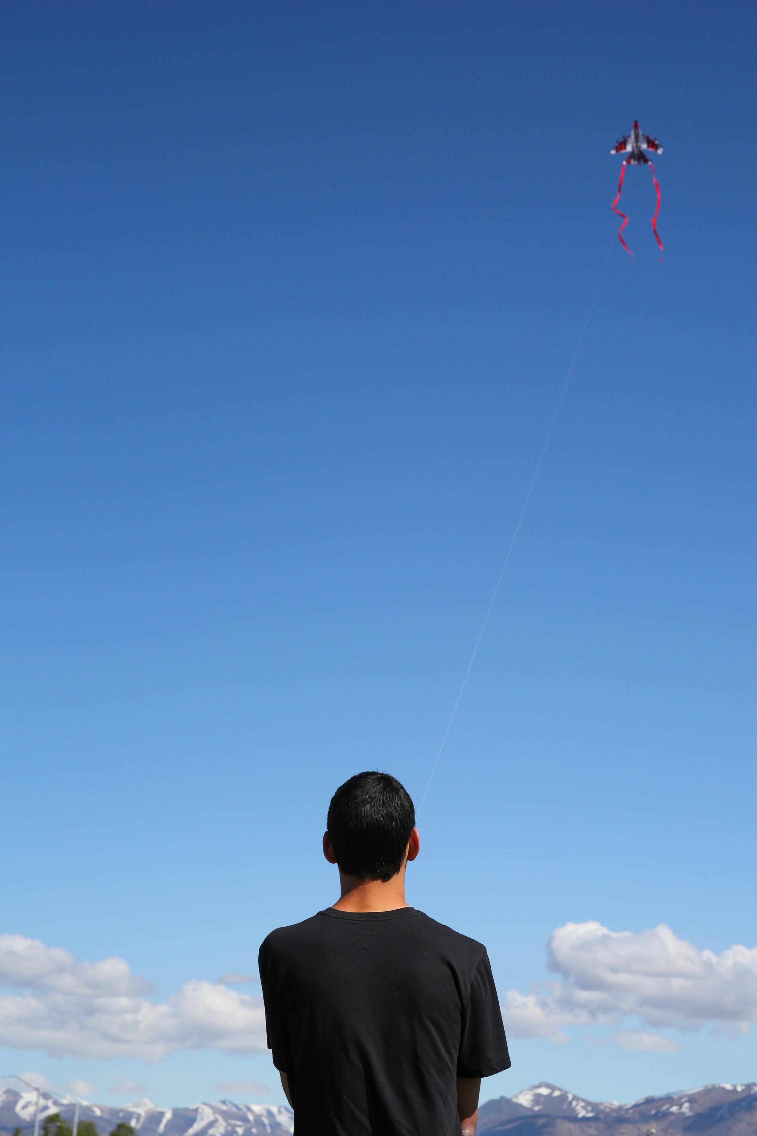 Kite flying at the Delainey Park Strip.