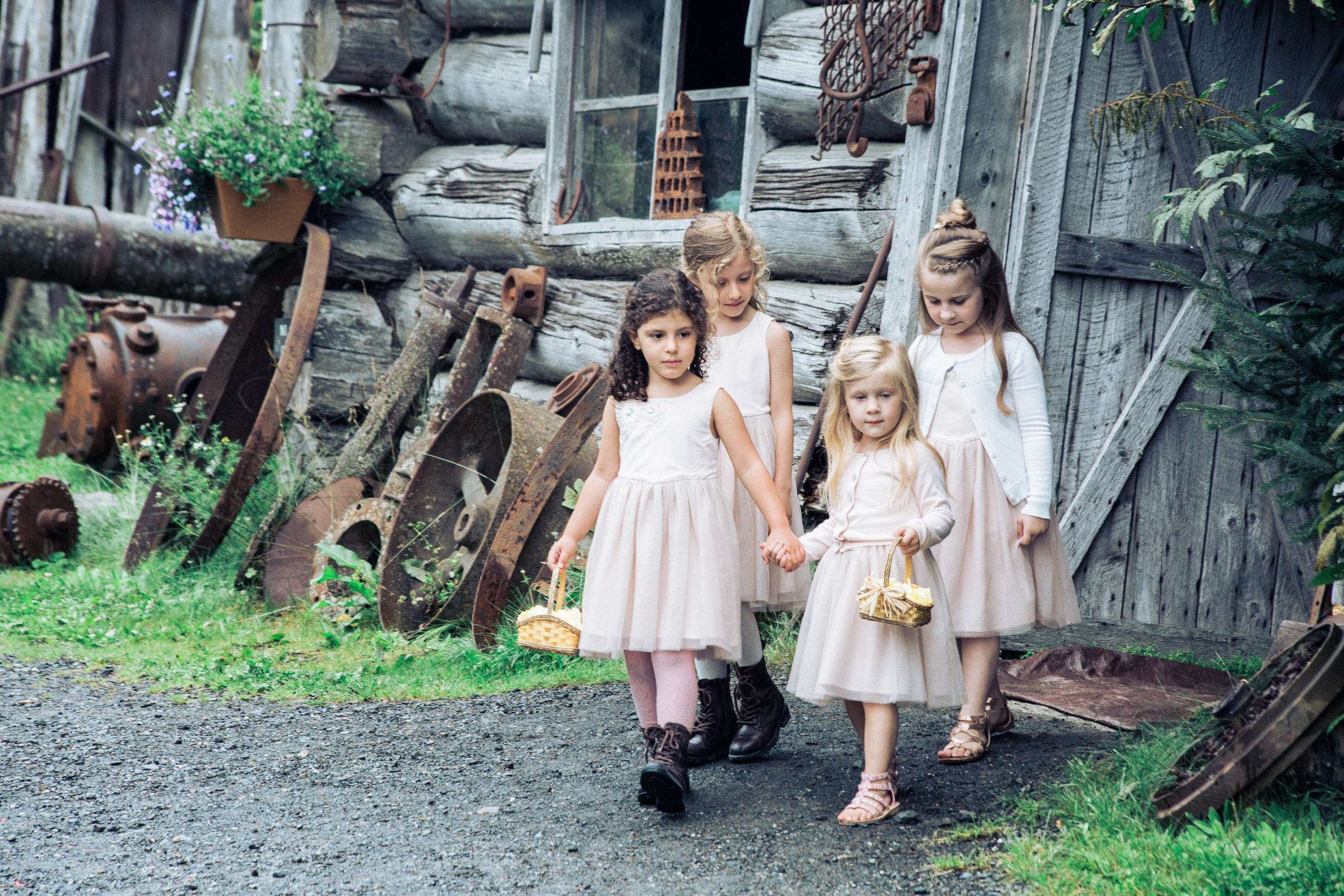 The cutest group of Flower Girls I've ever seen!